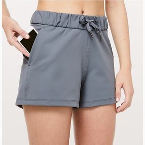 Grey Lululemon On The Fly Short